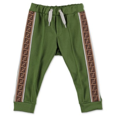 FENDI green triacetate pants