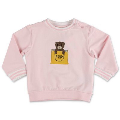 FENDI pink cotton sweatshirt