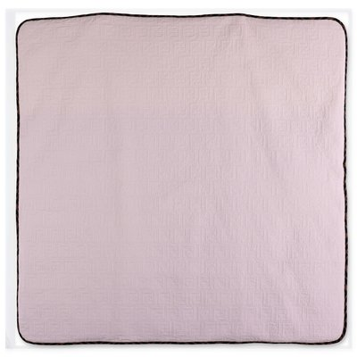 FENDI pink quilted cotton blanket