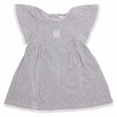 Melange grey cotton jersey dress