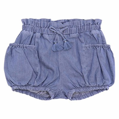 Blue cotton denim shorts