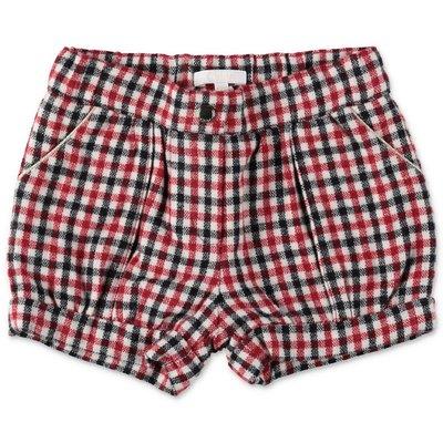Chloé shorts vichy in misto lana