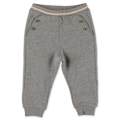 Chloé melange grey cotton sweatpants
