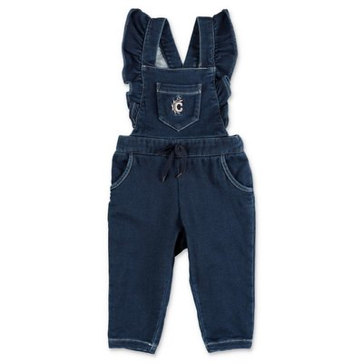 Chloé blue stretch cotton denim overalls