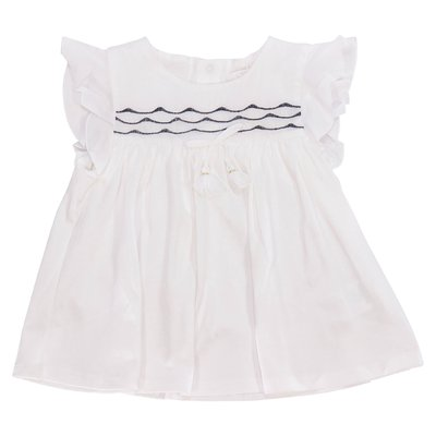 White cotton jersey dress