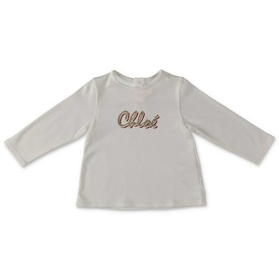 Chloè white cotton & modal jersey t-shirt