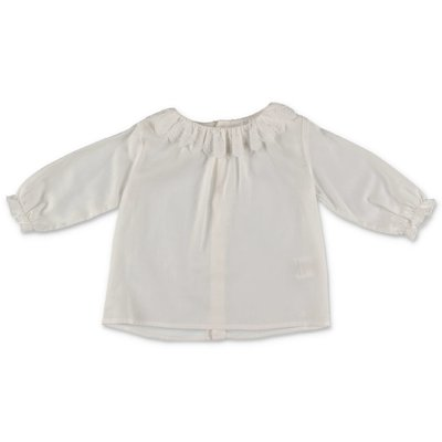 Chloé white cotton muslin blouse