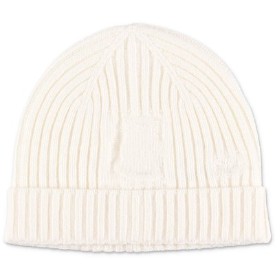 Chloé white wool blend knit cap