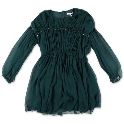 Chloé emerald green silk crepe dress
