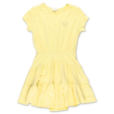 Chloé yellow cotton jersey dress
