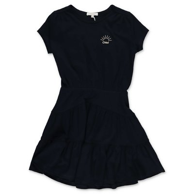 Chloé navy blue cotton jersey dress