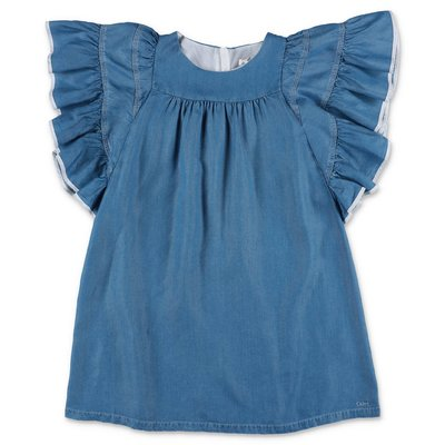 Chloé blue lyocell denim dress