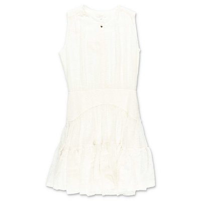 Chloé white cotton blend dress