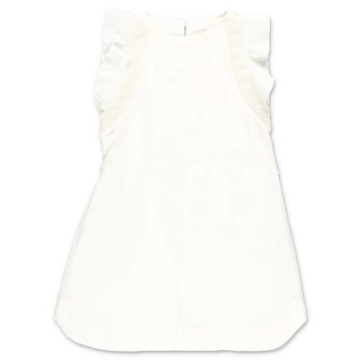 Chloè white cotton & silk dress