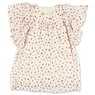 Chloé white floral print viscose dress