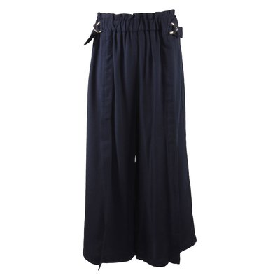 Blue navy viscose wide pants
