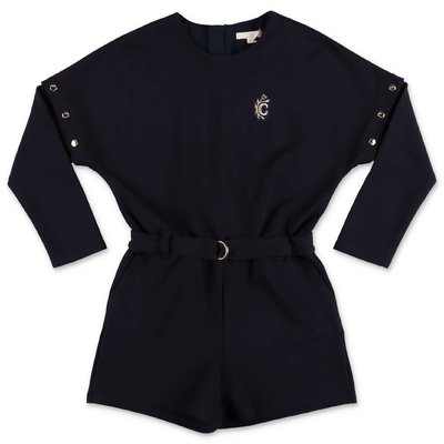 Chloé navy blue cotton & modal sweatshirt jumpsuit