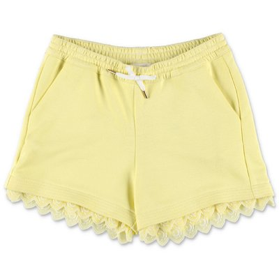 Chloé yellow cotton sweat shorts