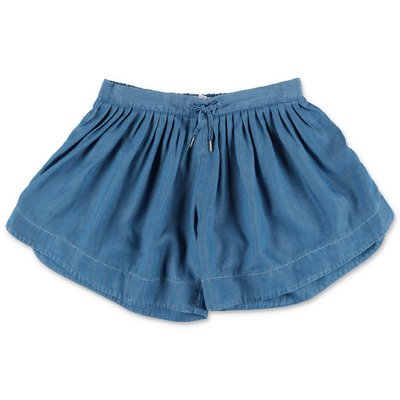 Chloé blue lyocell wide shorts