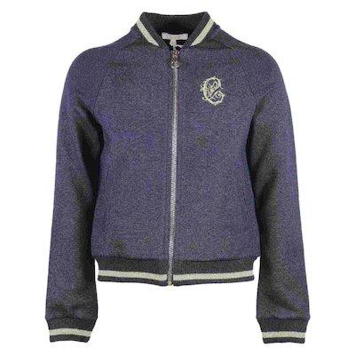 코튼 니트 집업 재킷