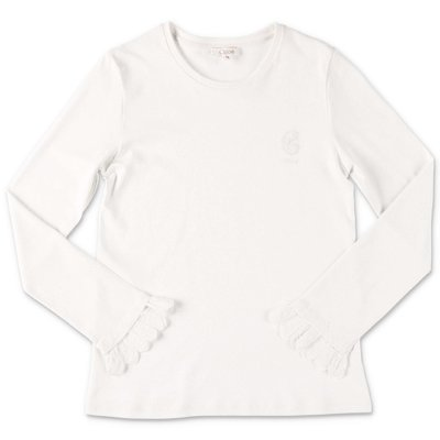 Chloé white cotton jersey t-shirt
