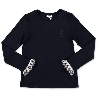 Chloé navy blue cotton jersey t-shirt