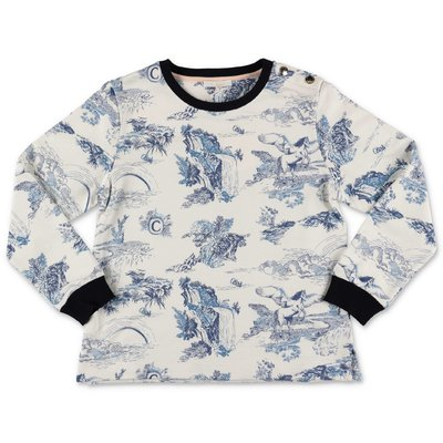 Chloé printed white cotton sweatshirt