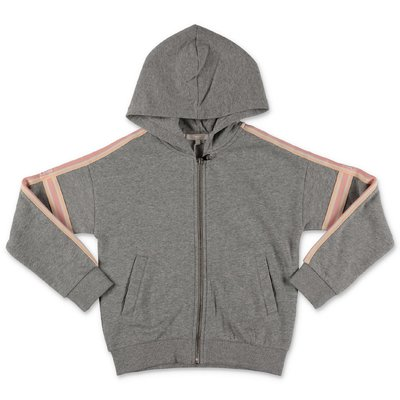 Chloé melange grey logo detail cotton hoodie