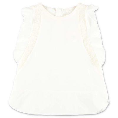 Chloè white cotton & silk top