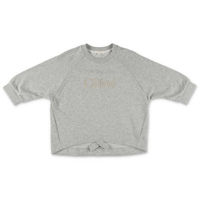 Chloè melange grey cotton sweatshirt
