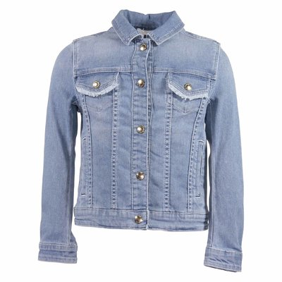 Cotton denim golden buttons jacket