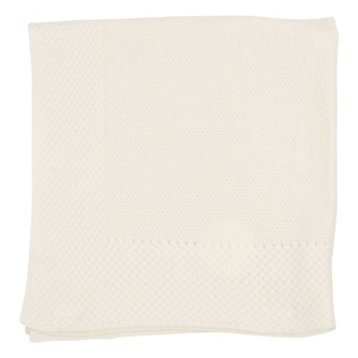 White cashmere blend wool blanket