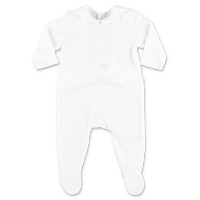 Chloé white cotton jersey romper