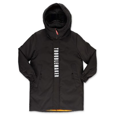 AI RIDERS ON THE STORM parka imbottito nero in nylon con cappuccio
