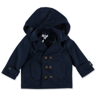 Modì navy blue coat with hood