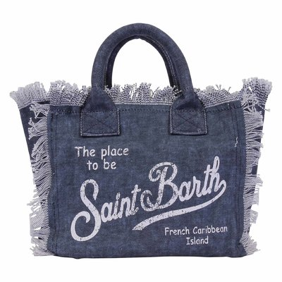 The place to be denim cotton canvas bag