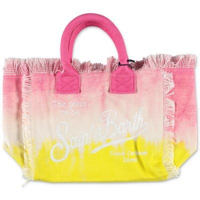 MC2 St Barth pink & yellow cotton canvas bag