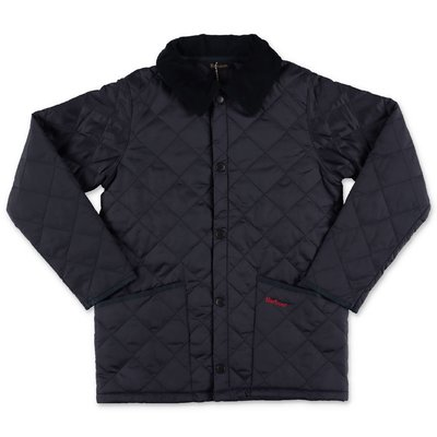 Barbour Liddes navy blue nylon quilted jacket