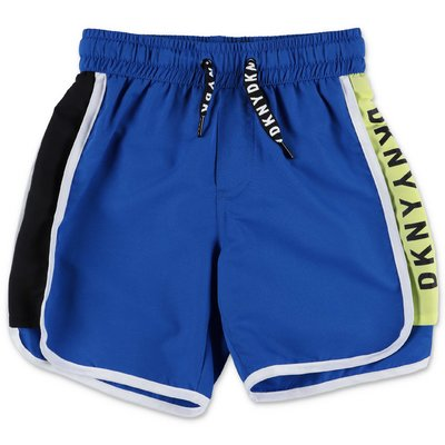 DKNY costume shorts da mare blu in nylon
