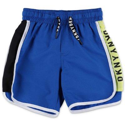 DKNY blue nylon swim shorts