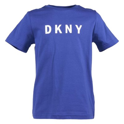 Blue logo cotton jersey t-shirt