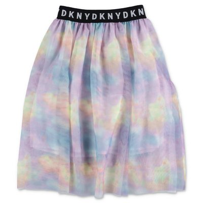 DKNY multicolor stretch tulle skirt