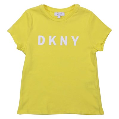 Lemon yellow cotton jersey logo t-shirt