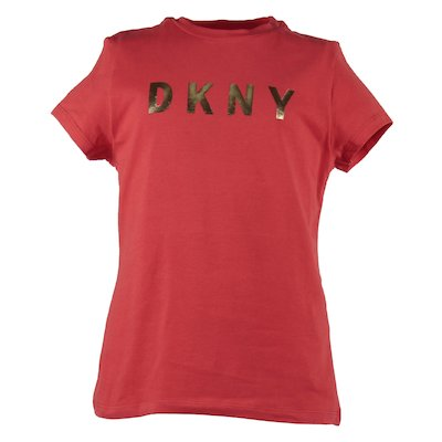 T-shirt rossa in jersey di cotone con logo
