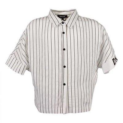 White striped viscose blend shirt