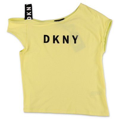 DKNY yellow cotton jersey t-shirt