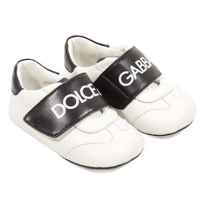Sneakers bianche e nere in nappa