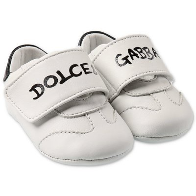 Dolce & Gabbana leather prewalker sneakers with velcro