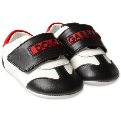Dolce & Gabbana logo detail nappa leather prewalker sneakers