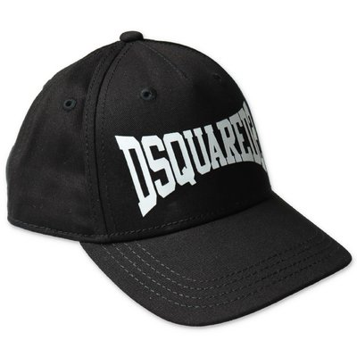 DSQUARED2 black cotton canvas baseball cap